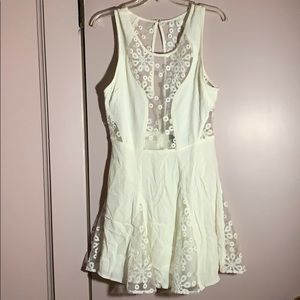 White Lacey Nasty Gal Dress